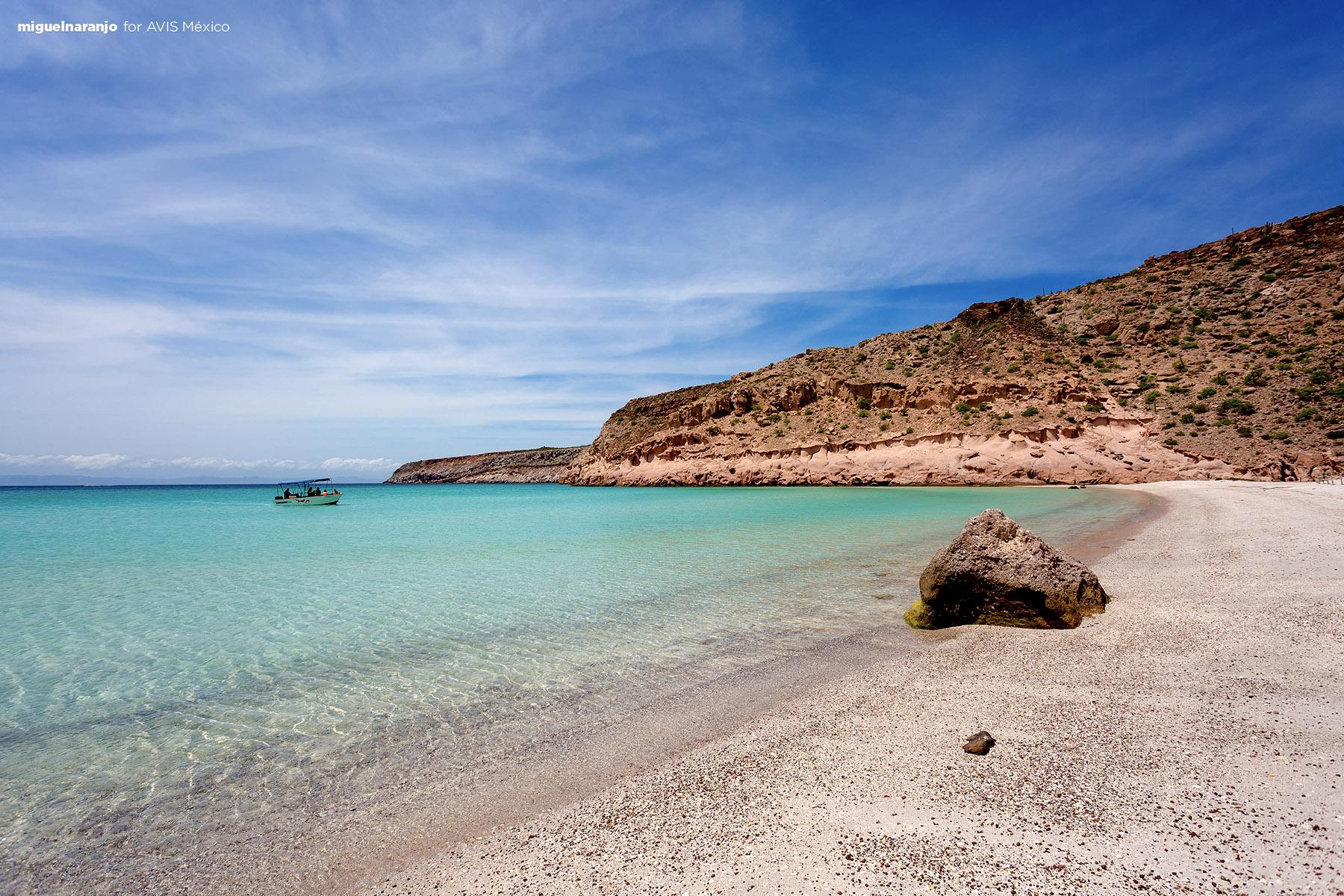 Playa Ensenada Grande en Isla Espíritu Santo, La Paz, BCS