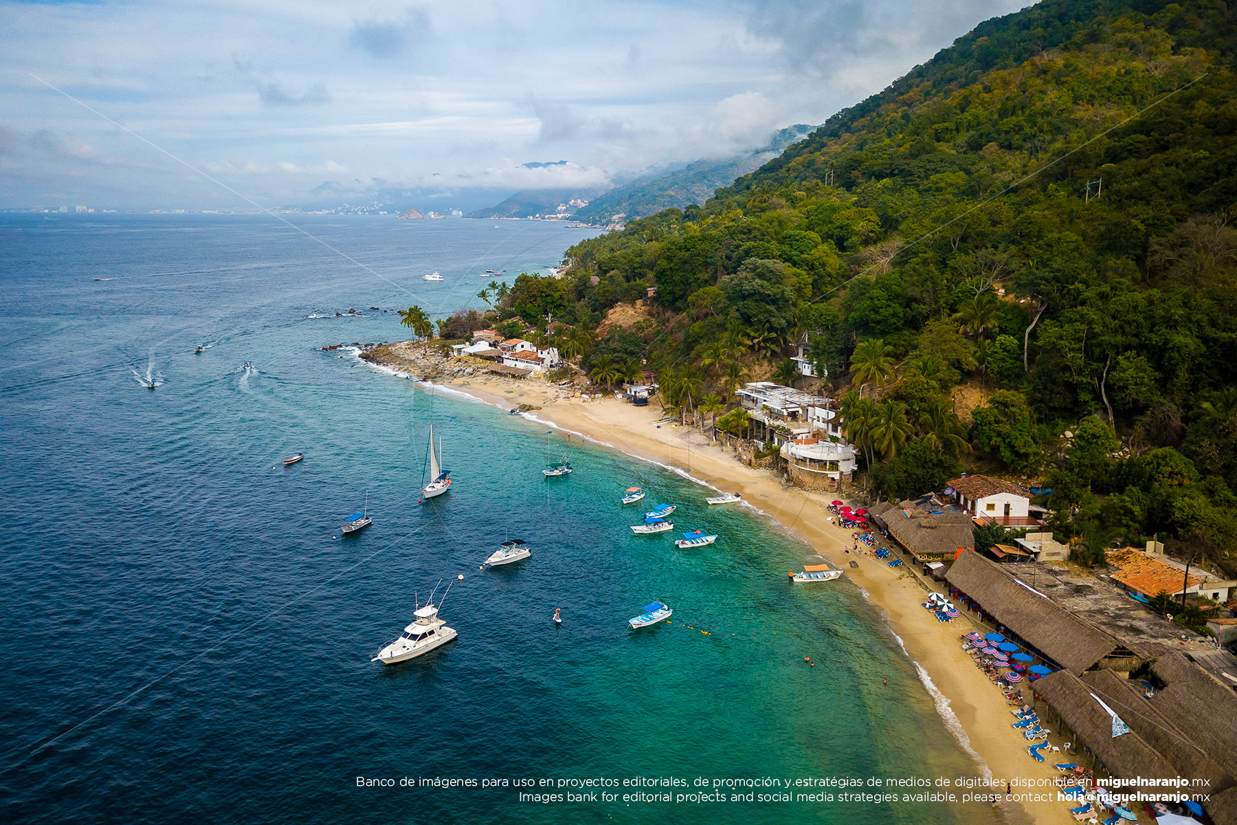 Las Animas Beach with drone, Puerto Vallarta