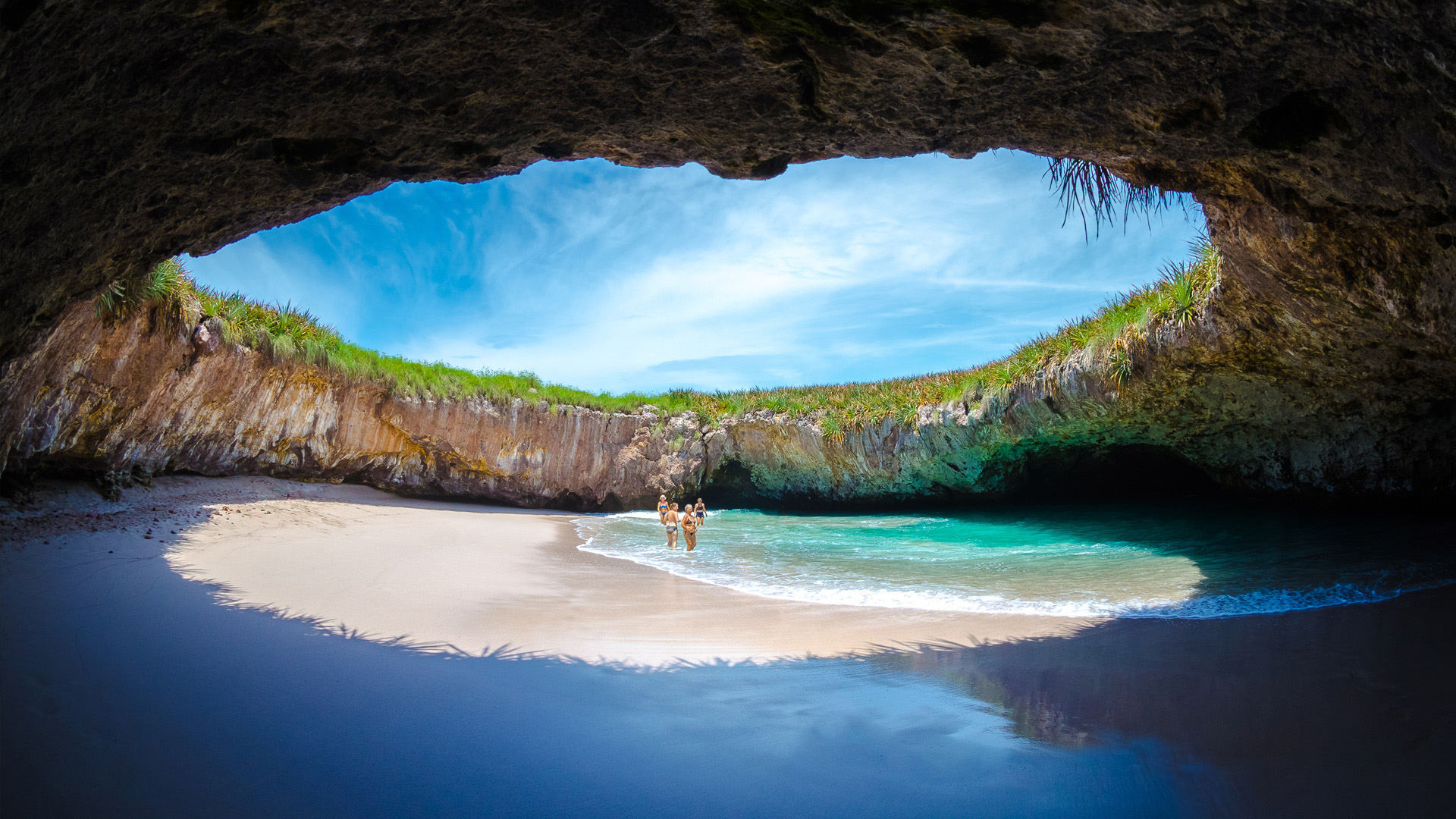 Hidden Beach at Islas Marietas, Vallarta Nayarit