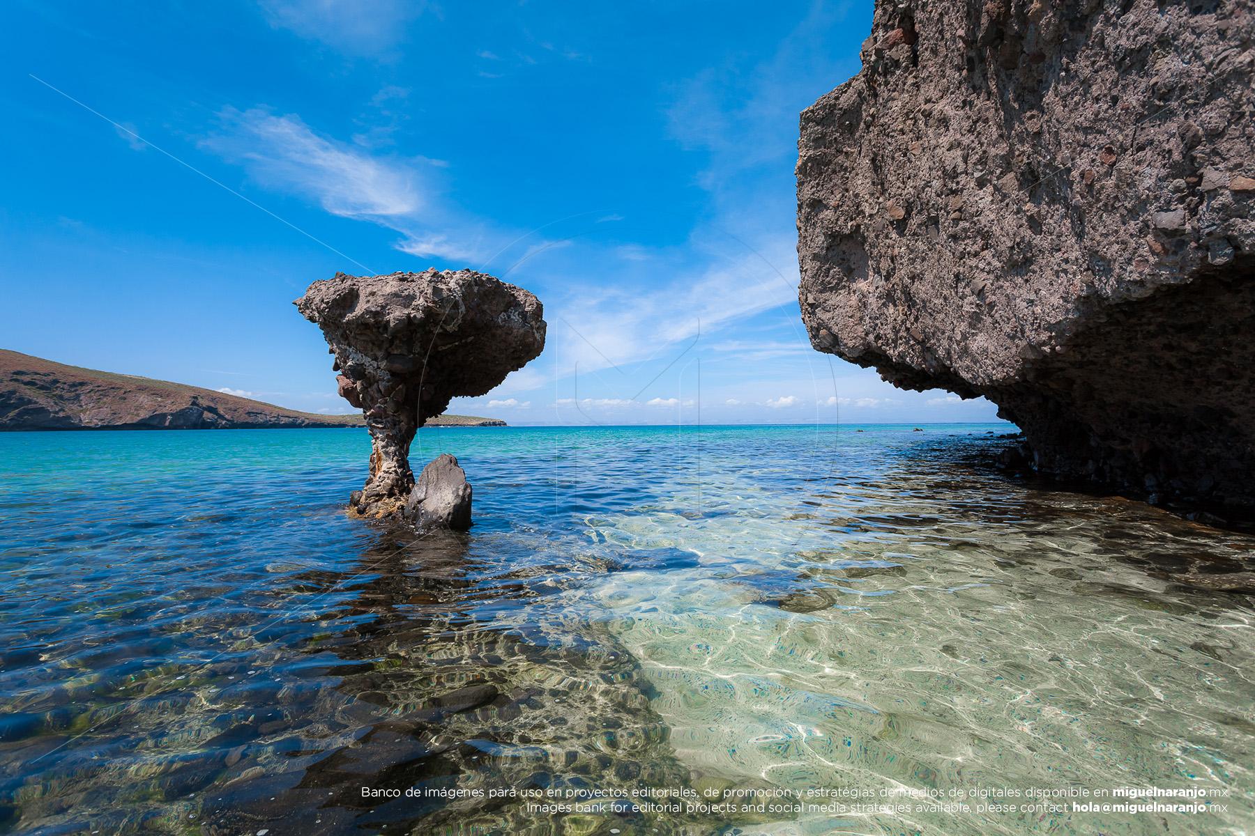 El Hongo en Playa Balandra, La Paz, Baja California Sur